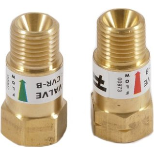 REVERSE FLOW CHECK VALVES (FOR TORCHES & REGULATORS)